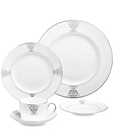 "Vera Wang Wedgwood ""Imperial Scroll"" Gravy Stand"