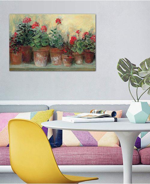 "iCanvas ""Kathleen's Geraniums"" by Carol Rowan Gallery-Wrapped Canvas Print (26 x 40 x 0.75)"