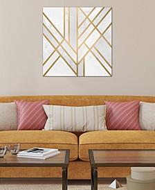 """Art Deco Geometry II"" by Elisabeth Fredriksson Gallery-Wrapped Canvas Print (18 x 18 x 0.75)"