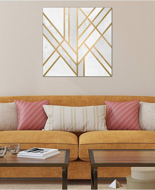 "iCanvas ""Art Deco Geometry II"" by Elisabeth Fredriksson Gallery-Wrapped Canvas Print (18 x 18 x 0.75)"