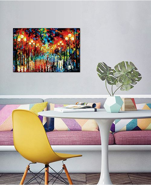 """iCanvas """"A Date With The Rain"""" by Leonid Afremov Gallery-Wrapped Canvas Print (26 x 40 x 0.75)"""