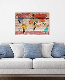 """""""World Map"""" by Irena Orlov Gallery-Wrapped Canvas Print (26 x 40 x 0.75)"""