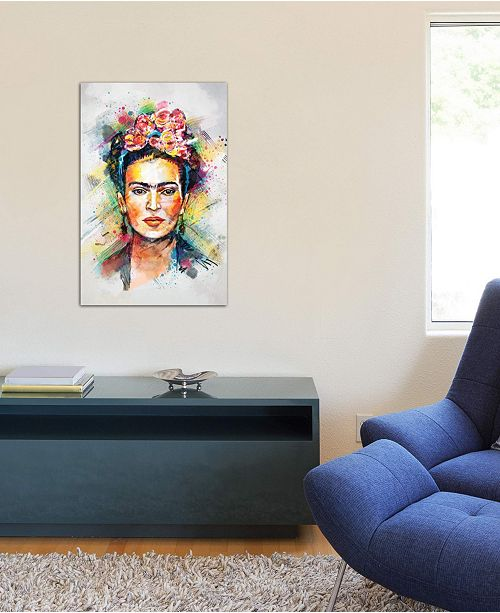 "iCanvas ""Frida Kahlo"" by Tracie Andrews Gallery-Wrapped Canvas Print (40 x 26 x 0.75)"