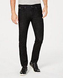 GUESS Men's Slim-Fit Tapered Blackout Jeans