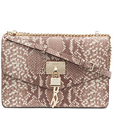 DKNY Elissa Snake Shoulder Flap Bag, Created for Macy's