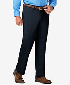 J.M. Men's Luxury Comfort Classic-Fit Performance Stretch Casual Pants