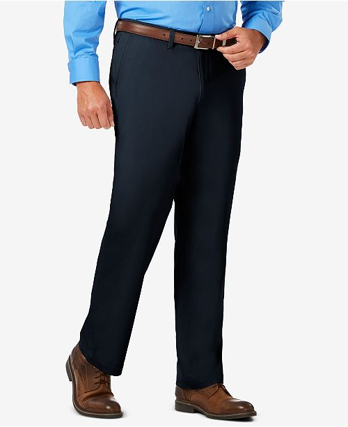 Haggar J.M. Men's Luxury Comfort Classic-Fit Performance Stretch Dress Pants
