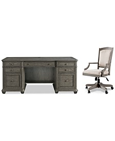 Sloane Home Office, 2-Pc. Set (Executive Desk & Upholstered Desk Chair), Created for Macy's