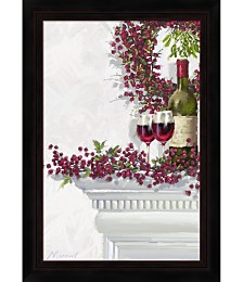 Winter Berries And Wine by The Macneil Studio Framed Art