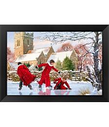 Frozen Pond by The Macneil Studio Framed Art