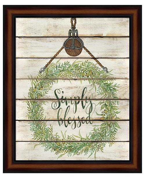Metaverse Simply Blessed Wreath by Cindy Jacobs Framed Art