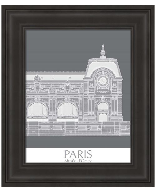 Metaverse Paris Musee Dorsay Monochrome by Fab Funky Framed Art