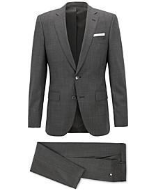 BOSS Men's Slim-Fit Patterned Virgin Wool Suit