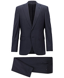 BOSS Men's Regular/Classic-Fit Micro-Pattern Virgin Wool Suit