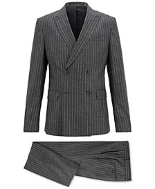 BOSS Men's Double-Breasted Pinstripe Suit
