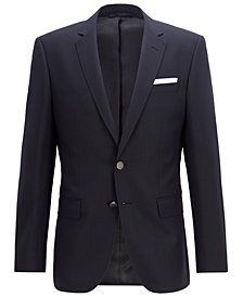 BOSS Men's Slim-Fit Patterned Virgin Wool Jacket