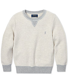 Polo Ralph Lauren Toddler Boys Cotton Crew-Neck Sweater