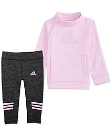 adidas Toddler Girls 2-Pc. Fleece Top & Leggings Set