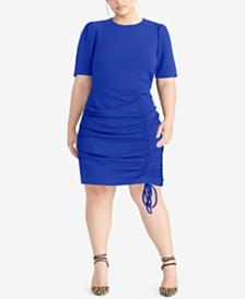 RACHEL Rachel Roy Trendy Plus Size Ruched Dress