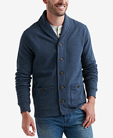 Lucky Brand Mens Heather Shawl Sweater
