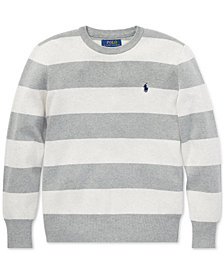 Polo Ralph Lauren Big Boys Striped Cotton Sweater