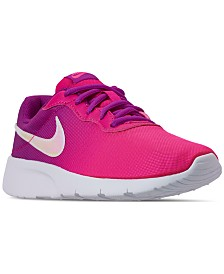 Nike Little Girls' Tanjun Print Casual Sneakers from Finish Line