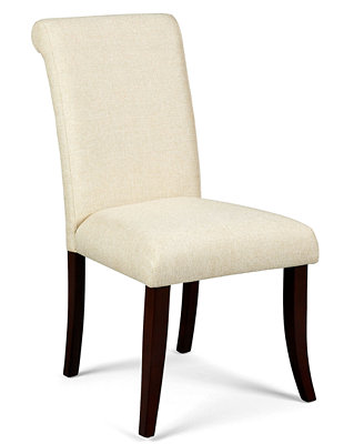 Closeout Bradford Scroll Back Upholstered Parsons Chair