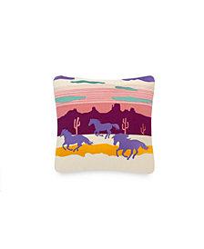 "Ponies 18"" X 18"" Pillow"