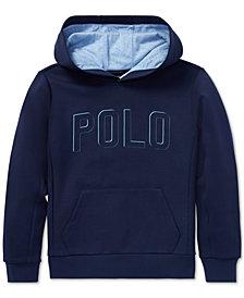 Polo Ralph Lauren Big Boys Double-Knit Graphic Hoodie