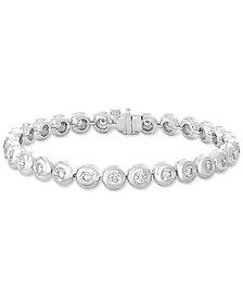 EFFY® Diamond Bezel Link Bracelet (3-1/4 ct. t.w.) in 14k White Gold