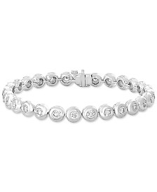 EFFY® Diamond Bezel Link Bracelet (3-1/4 ct. t.w.) in 14k White Gold