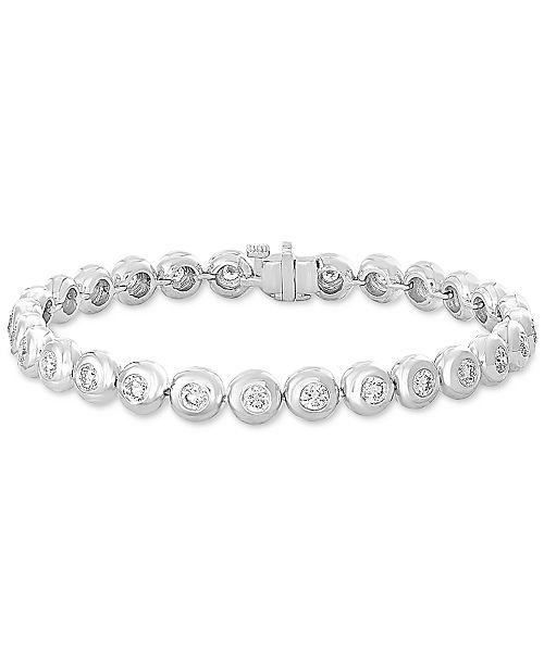 EFFY Collection EFFY® Diamond Bezel Link Bracelet (3-1/4 ct. t.w.) in 14k White Gold