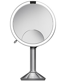 "simplehuman 8"" Trio Lighted Sensor Makeup Mirror"