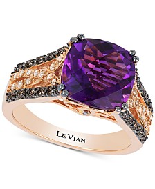 Le Vian® Amethyst (3-1/3 ct. t.w.) & Diamond (1/3 ct. t.w.) Ring in 14k Rose Gold
