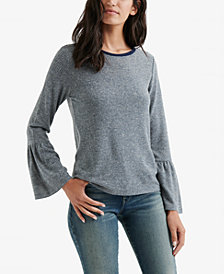 Lucky Brand Bell-Sleeve Striped Top