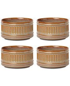 Dansk Flamestone Caramel All-Purpose Bowls, Set of 4