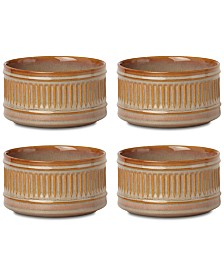 Dansk Flamestone Caramel All-Purpose Bowls, Set of 4