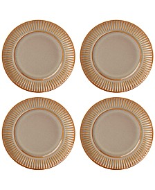 Dansk Flamestone Caramel Salad Plates, Set of 4