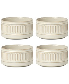 Dansk Flamestone Ivory All-Purpose Bowls, Set of 4