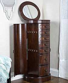 Bailey Dark Walnut Jewelry Armoire