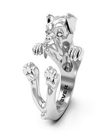 Boxer Hug Ring in Sterling Silver