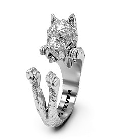 West Highland White Terrier Hug Ring in Sterling Silver