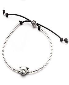 Pug Head Bracelet in Sterling Silver