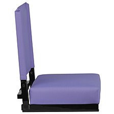 Grandstand Comfort Seats By Flash With Ultra-Padded Seat In Purple