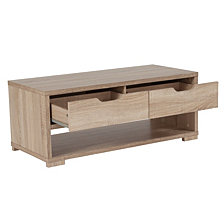 Howell Collection Coffee Table With Storage Drawers In Sonoma Oak Wood Grain Finish
