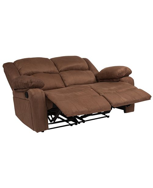 Strange Harmony Series Chocolate Brown Microfiber Loveseat With Two Built In Recliners Beatyapartments Chair Design Images Beatyapartmentscom
