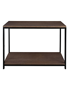 Studio Console Table with Solid Red Oak Top and Shelf