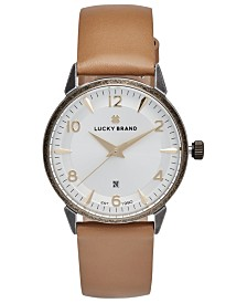 Lucky Brand Women's Torrey Brown Leather Strap Watch 34mm