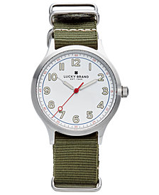 Lucky Brand Men's Jefferson Olive Nato Strap Watch 38mm
