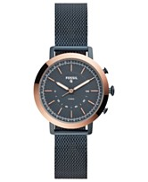 1ae2b756d5ef Fossil Q Women s Neely Navy Stainless Steel Mesh Bracelet Hybrid Smart Watch  34mm